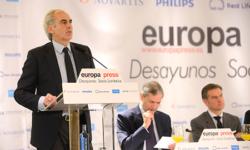 Don Enrique Ruiz, Consejero de Sanidad de la CAM en los Desayunos Socio Sanitarios de Europa Press